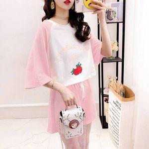 ezkLU FAyNp пижама костюма женских летний корейский стиль с короткими рукавами студент ПОХУДЕНИЯ pants- дом широких ноги брюки шорты широких ногами широкий износ ЛООС