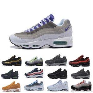 Cuscino Mens Running Shoes autentici scarpe sportive per gli uomini Top Sneakers Scarpe da passeggio all'aperto Grey Man Training Maxes uk40-45 S01