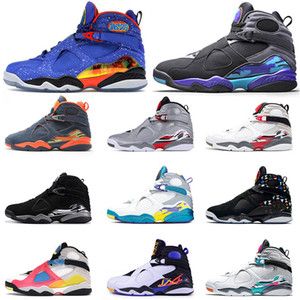 NEW Jumpman 8 Basketball Shoes 8s Mens Trainers Doernbecher Retro Quai SE White Multicolor White Aqua ALTERNATE Aqua Black Sneakers