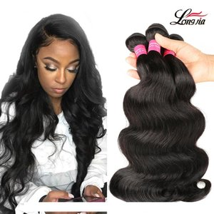 A Brazilian Body Wave Hair Extensions 8 -28inch 100 %Unprocessed Human Hair Weave 3 4 Bundles Virgin Body Wave Hair Natural Color Free