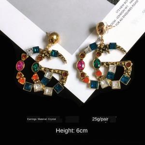 orecchini nuovi placcato oro a catena Orecchini pendenti collana di diamanti 2020 braccialetto di perline DH8OS pendente delle donne