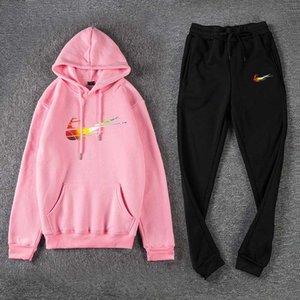 Nova forma homem designers de roupas 2020 Sweatsuit Treino Homens hoodies + calças Mens Clothing moleton mulheres Casual Tênis Spor