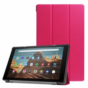 cgjxs Magnetic couro com três dobras Caso Tablet Para Kindle Fire HD10 2017 2019 30pcs / lot