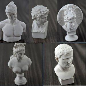 Tek Mini Alçı Kafa Portre Amerikan Tarzı Heykel Reçine Alçı Karakter Kroki Modeli Kolay için kullanın 3 2zp dd çizin
