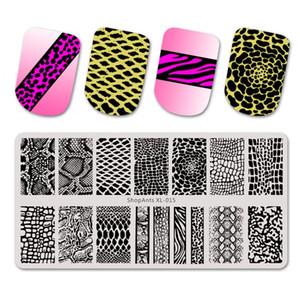 6 * 12 centímetros prego Estampagem Placa da pele de cobra Imagem Natural padrão de impressão de aço inoxidável estêncil modelos de Nail Art Stamp
