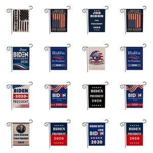 chaud 12 de style 2020 Bannière Drapeau biden cour de campagne drapeau élection présidentielle américaine bannière jardin Drapeaux drapeau 45 * 30CM T2I51365