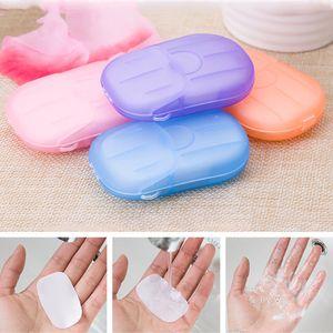 Soap Paper Disposable Portable Hand-washing Foaming Hand Soap Tablets Jabon Tablet Mini Plastic Manual Mini Dispenser Paper Soap