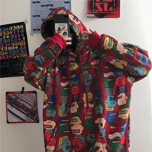 Print Sweatshirt Women Hoodies Oversized Hoodie Harajuku Kpop Hood Hooded Woman Loose Bf Student Coat Sudadera Mujer Streetwear 200923