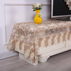 Europa lusso tovaglia ricamata copertura pranzo panno Fiore del merletto tessuto TV comodino tavolo asciugamano 1536 Y200421