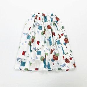 الكتابة على الجدران جديد عارضة الشيفون المطبوع مظلة الشيفون مطوي تنورة تنورة مظلة طالب أنثى EDUdh الصيف