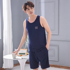Wuqza Gilet Pajamas Pantalons pour hommes Costume Vêtements Vêtements Models Maison Maison Home Wear Great Taille Summer Casual Sans Shorts Suit