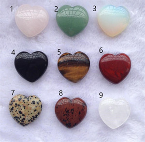 Joyería de la forma de Reiki Minerales corazón de cristal de cuarzo natural de piedra curativo del Chakra Colgante de piedras preciosas de bricolaje del hogar del regalo hecho a mano