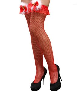 Noël Femmes Sexy Silk Stockings Casual jour de Noël Cosplay jour de Noël femmes Designer Fashion Bow Bas