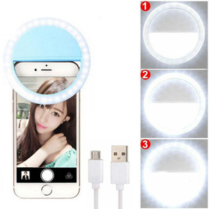 Portable USB Charge selfie LED Light Ring flash Flash Caméra clip réglable Luminosité Amélioration Photographie Pour tous les téléphones mobiles