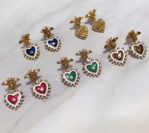 Top quality S925 sterling silver special style for women charm earring jewelry gift love five-pointed star love earrings