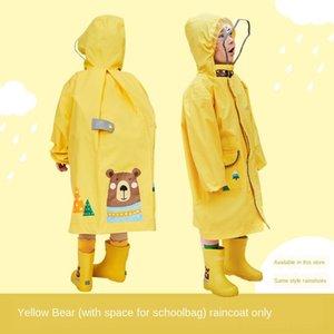 VtQnV t1xs6. Kinderregenmantels Mädchen Kinder Cloak Kinder Schüler Junge Kindergarten-Tasche Babymantel Poncho mittleren und großen Pr