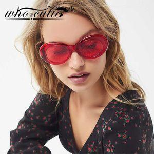 Cool Frame Sun Oval Vintage Sunglasses Women Glasses Design Glitter Crystal Fashion Kurt Cobain 2020 Retro Brand 90s Party S266 Drtbv
