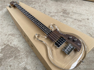 Ampeg ADA4 Dan Armstrong Lucite 4 dizeli Bas Gitar Kristal akrilik pleksiglas şeffaf, yük serbest