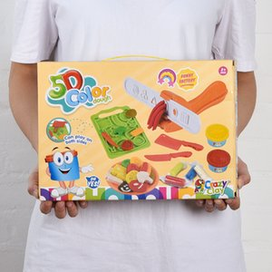 5D color clay toy DIY Vegetable clay mold toy Color mud pressing mold Children creative toys