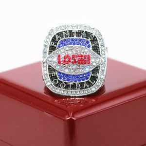 2020 New Arrival Factory Wholesale Price Fantasy Football Loser Champion Ring USA Size 10 11 12 13 With Wooden Display Box Drop Shipping
