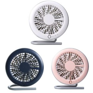 Table Tiny Round Fan Quiet Operation Adjustable Tilt 360 Degree Rotating USB Rechargeable Household Appliances