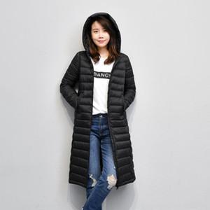 Zkz2i 7ajEv 2019 jacketcoat 새로운 재킷 슬림 무릎 LENG 아래 한국 스타일의 90fleece 여성의 후드 가을 얇은 겨울 아래 중간 길이의 재킷