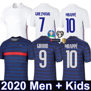 2020 2021 Тайский Топ Франция MBAPPE Griezmann Pogba трикотажные изделия футбола 20 21 футбол Джерси Канте маек Майо De Foot Men + Детский комплект
