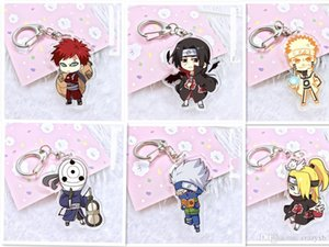cgjxs 19 Style 2018 Naruto Keychain Cute Double Sided Akatsuki Panther Key Chain Customize Anime Key Ring Pcb178 -193