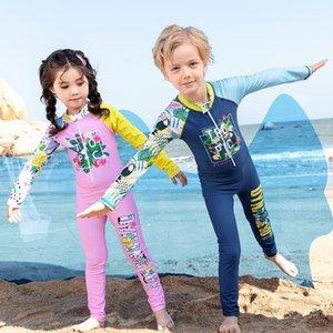 ZNhw9 2020 новый детский купальник молния и сестра шить с длинными рукавами спереди комбинезон брат мужские брюки Swimsuit одежды Body Az3je