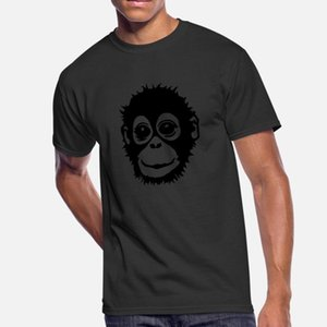 Tripulação Ape Camiseta Homens de Fitness Cotton Neck Solid Color Academia Unique Style Verão engraçado