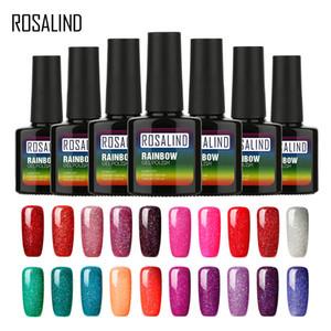 ROSALIND Gel 1S Gel Varnish Rainbow Color Series UV Nail Polish Set For Manicure Tops Base Soak Off Design Nail Art Primer