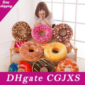 Schokoladen-Brötchen Kissen Donut-Plüsch-Spielzeug-Kissen Donut Wohnkultur Büro Kissen