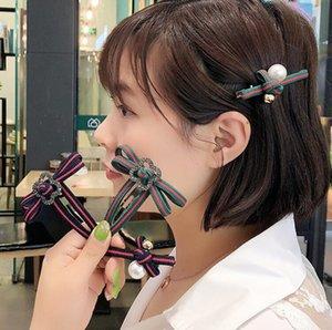 2020 South Korea fashion new Cloth art Ins crystal Hair Clip For Women Girls Luxury Bowknot crystal Hair Barrette Wedding Jewelry