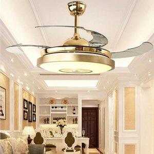 LED moderna fã luz ultra silencioso inteligente controle remoto ventilador de teto luz da sala de jantar sala de estar