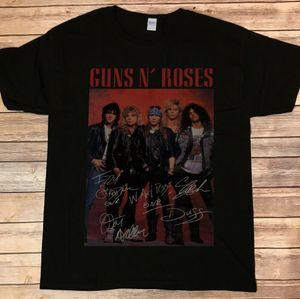 New ~ Guns N Roses Axel Rose Slash T-shirt autografata chitarra firmata