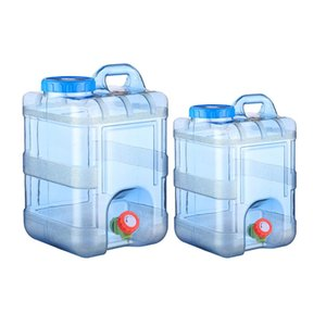 20L Pure Water Jug Plastic Bucket Home Water Storage Container For Traveling Biking Camping Car Self-driving Tour with