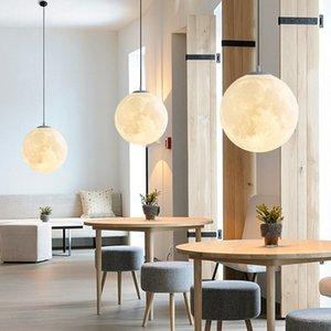 Moderna 3D impresión creativa de las luces colgantes droplight luna, iluminación de la decoración del hogar de la moda lámparas y linternas