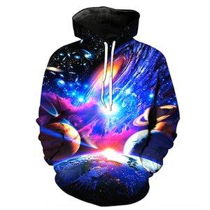 3D maglione Galaxy pullover pianeta stampato tasca con cappuccio pullover alla moda maglione uomini incappucciati di -0.589