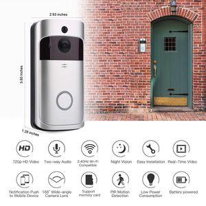 سمارت IP WIFI الجرس إنترفون فيديو كاميرا WIFI الهاتف جرس الباب للشقق IR كاميرا إنذار الأمن مع كشف الحركة