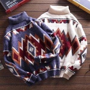 Thick Inverno Casal Sweater Homens Pullover 5XL Big Size Camisolas japoneses para Homens Natal Camisolas de gola Além disso Sweater Tamanho