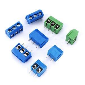 10pcs / lot KF301-5.0MM 2P KF301-3P Pas 5.0mm Épingle 2P 3P 4P vis Bornier PCB connecteur bleu vert