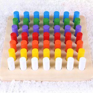 Yeni Eğitim Oyunları Silindir Soket Blokları Çocuklar 1-3 Yaşında Montessori Materyalleri Montessori Oyuncak LJ200922 İçin Ahşap Matematik Oyuncak