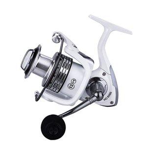 CNC metallo maniglia di pesca Spinning Reel Colore Bianco 1000-7000 salata acqua dolce Lake Lure Mulinello Bass Pike