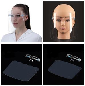 Titolare PET Visiera di vetro di protezione Oil-Splash Proof calotta di protezione del viso trasparente facciale della mascherina OOA8450 Glass