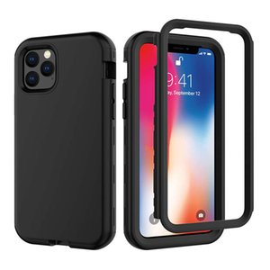 Rugged Phone Cases For iPhone 11 Pro Max Case 3 in 1 Armor Defender Anti-Shock Hybrid Hard Silicon Cover