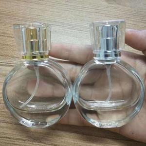 10pcs 25ml Perfume de cristal Frasco de Perfume Mini portátil de viagem de enchimento de pulverização garrafa vazia de alumínio anodizado bomba de pulverização