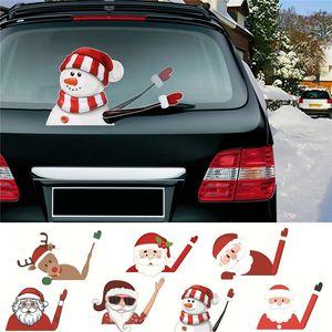 2019 Neue Auto-Zubehör Weihnachten Auto Dekorationen DIY Auto-Aufkleber Windschutzscheibe Weihnachtsmann Netter Fensteraufkleber Auto Scheibenwischer Aufkleber