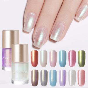 Nicole Diary 9ml ногтей Pearl Shimmer Блеск ногтей Лак Лак на водной основе для маникюра Праймер Вернись 6ml