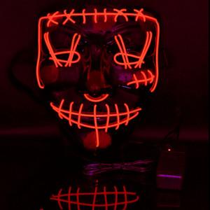 Máscaras Máscara de Halloween LED EL Party DJ Wire Light Up resplandor oscuro del partido del festival de película En el día de pago de Cosplay JK2009PH