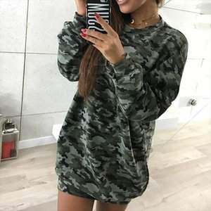 New Autumn Spring Pullover T Shirts Women Camouflage Long Sleeve T Shirts O neck Street Outerwear T Shirts